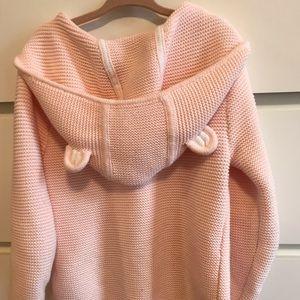 Pink bear ear sweater